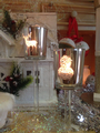 Silver Sparkle Large Glass Candle Holder - Christmas Candle Holder